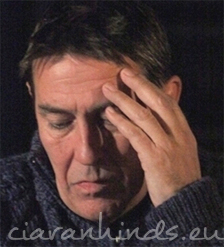 Ciaran Hinds on stage at the Gate Theatre